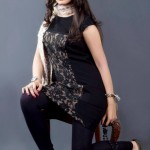 Latest Collection Black Western Wear Dresses 2014 for Women by Hang Ten (5)