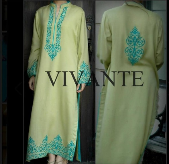 Latest Fall Winter Wear Dress For Women in Pakistan By Vivante (5)