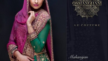 Latest Semi-Formal Winter Dress Collection 2014 For Women By Osman Ghani (1)