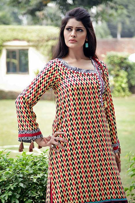 Latest Winter New Dress Collection 2014 for Women By Khanumz (1)