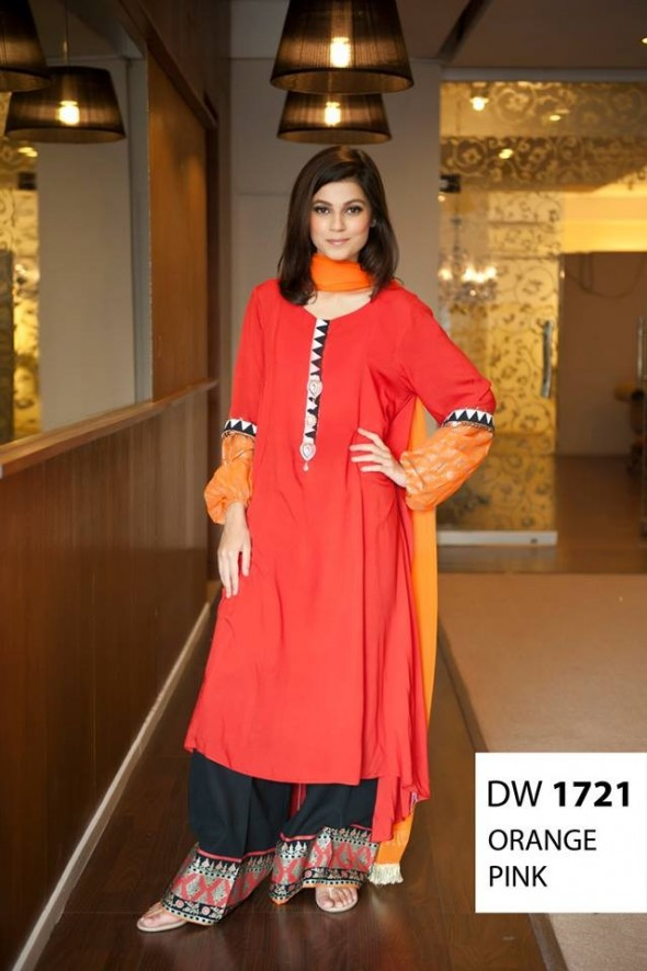 Maria B Latest Evening Wear Dresses New Collection 2014-2015 For Women (1)