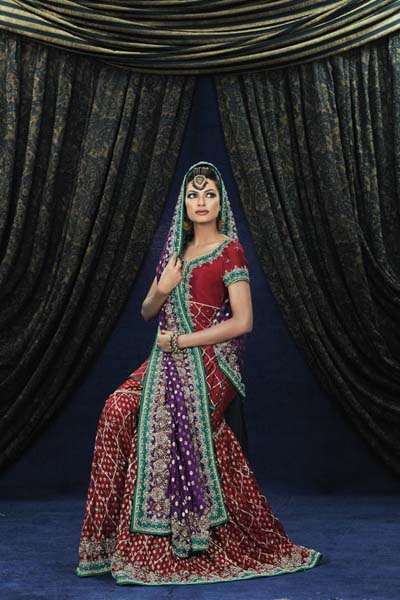 Mashaal Moazzam Latest Party Wear Bridal Dress Collection 2014 For Women (7)