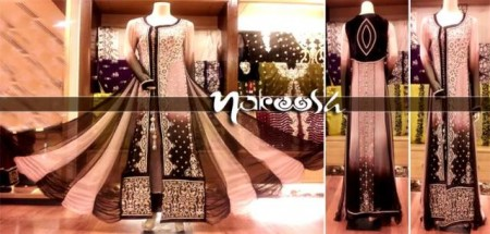 Nakoosh Beautiful Winter Party Wear Dresses Collection 2014 For Women (5)