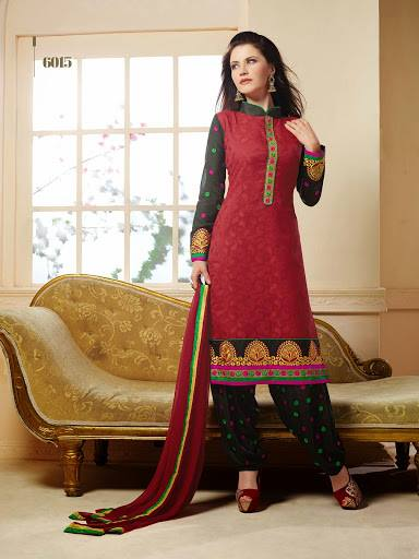 Ready to Wear Cotton Patiala Suits 2014 for Women 1