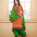 Ready to Wear Cotton Patiala Suits 2014 for Women