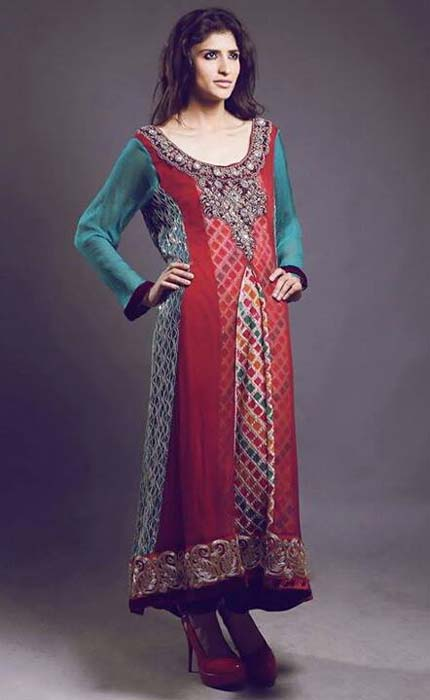 Sanober Siddiq Latest Party wear Winter Dress Collection 2014-15 For Women (1)