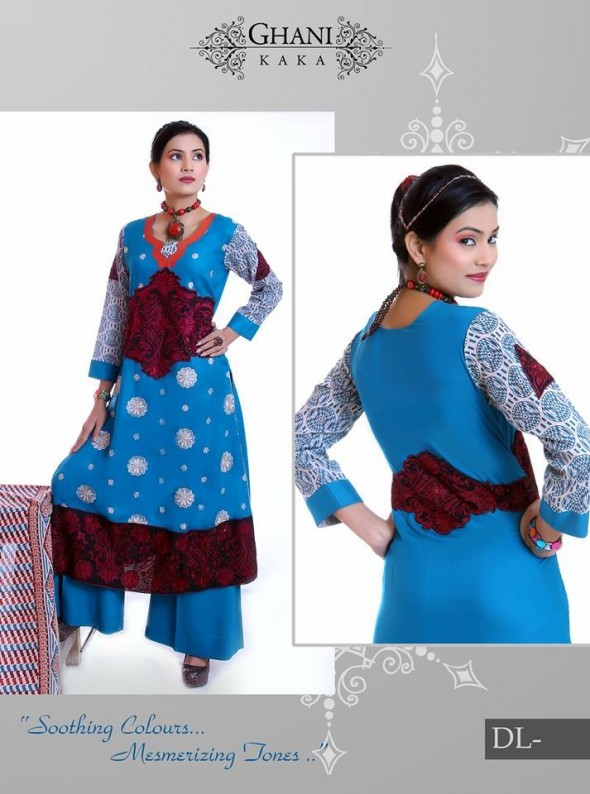 Stylish Winter Wear Dress Collection 2014 For Women By Ghani Textile (1)
