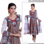 Stylish Winter Wear Dress Collection 2014 For Women By Ghani Textile (7)