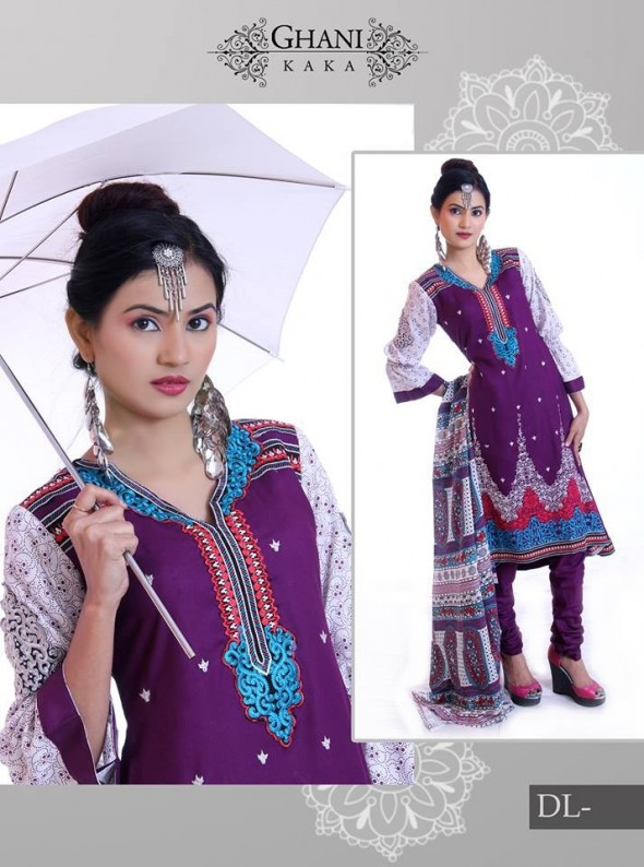 Stylish Winter Wear Dress Collection 2014 For Women By Ghani Textile (8)