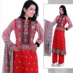 Stylish Winter Wear Dress Collection 2014 For Women By Ghani Textile (9)