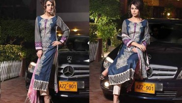Subhata Designer Embroidered Linen Winter 2014 Collection For Women (1)