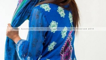 Suman Ayesha Winter Wear Dresses 2014 001