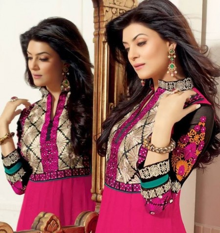 Sushmita Sen Anarkali Frocks Collection 2014-2015 For Women (4)