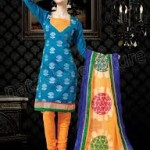 Vibrant Cotton Suits Semi Stitched Collection 2014 for Women 1