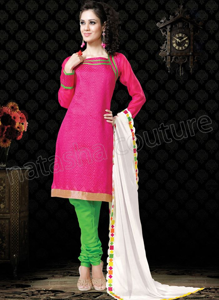 Vibrant Cotton Suits Semi Stitched Collection 2014 for Women 4
