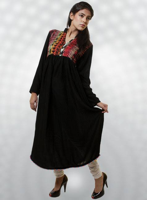 Women Fashion Dicha Kurti Designs Collection 2014 For Girls (1)