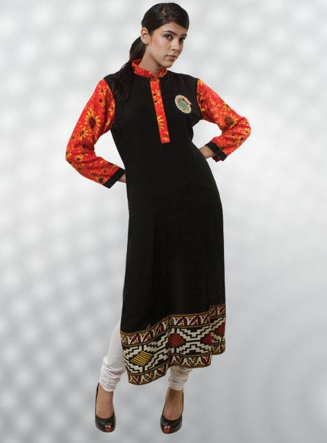 Women Fashion Dicha Kurti Designs Collection 2014 For Girls (8)