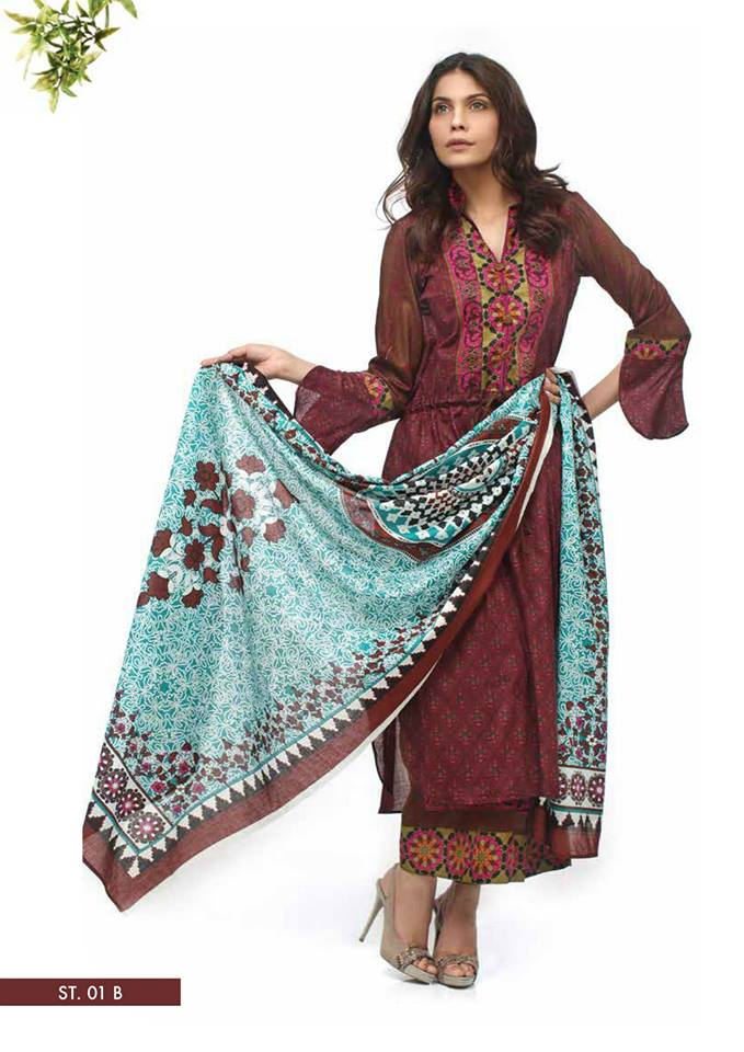 Colorful Libas Vol-01 Women Party Wear Dresses 2014 by Shariq Textile 3