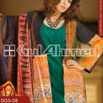 Gul Ahmed Lamis Digital Silk Collection 2014 for Women