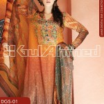 Gul Ahmed Lamis Digital Silk Collection 2014 for Women 2