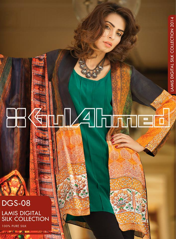 Gul Ahmed Lamis Digital Silk Collection 2014 for Women 4