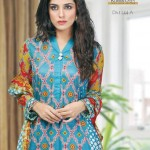 Latest Alishan Krinkel Spring Dresses Collection 2014 008