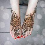 Latest Henna Foot Mehndi Designs For Girls 2014 001