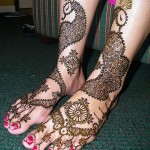 Latest Henna Foot Mehndi Designs For Girls 2014 004
