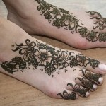 Latest Henna Foot Mehndi Designs For Girls 2014 005