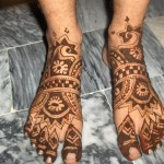 Latest Henna Foot Mehndi Designs For Girls 2014 006