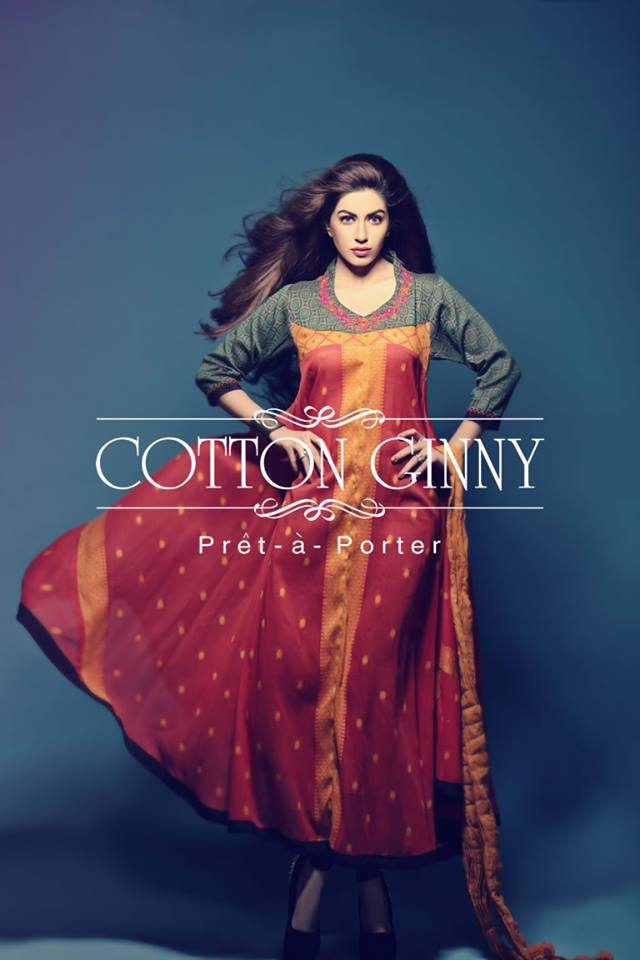 Latest Spring Summer Dresses Collection 2014 For Women By Cotton Ginny (1)