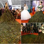 Nanjing Peacock Feather Dress at from Wedding Expo China
