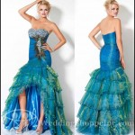 Nanjing Peacock Feather Dress at from Wedding Expo China 4