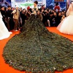 Nanjing Peacock Feather Dress at from Wedding Expo China 5