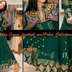 Orhni Boutique Embroidered Gowns Siuts Collection 2014 003