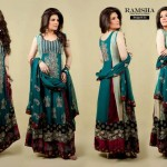 Ramsha Fashion Fabrics Embroidered Dresses 2014 1