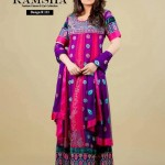 Ramsha Fashion Fabrics Embroidered Dresses 2014