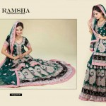 Ramsha Fashion Fabrics Embroidered Dresses 2014 3