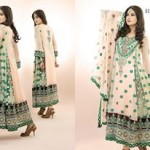 Ramsha Fashion Fabrics Embroidered Dresses 2014 4