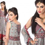 Ramsha Fashion Fabrics Embroidered Dresses 2014 5
