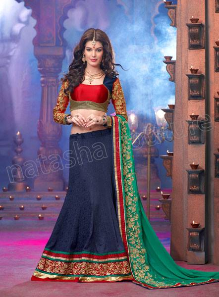 Resplendent Lehenga Choli Party Wear Dresses 2014 4