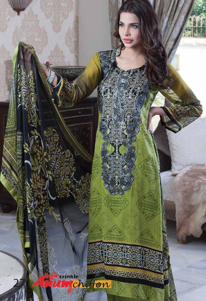 Al-Zohaib Textile Exclusive Anum Chiffon 2014 for Women 5
