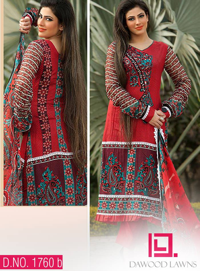 Dawood Textiles Exclusive Zam Zam Lawn Collection 2014 Vol-01 for Women 5