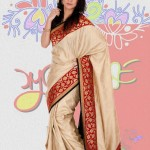 Exclusive Boishakhi Party Sarees Wear collection 2014 by Mansha 3