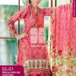 FANCY SUMMER LAWN 2014 VOLUME-1 TRENCIA SATIN SILK GulAhamed. 121