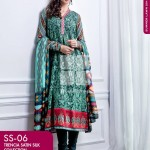 FANCY SUMMER LAWN 2014 VOLUME-1 TRENCIA SATIN SILK GulAhamed. 25