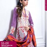 FANCY SUMMER LAWN 2014 VOLUME-1 TRENCIA SATIN SILK GulAhamed. 7