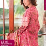 FANCY SUMMER LAWN 2014 VOLUME-1 TRENCIA SATIN SILK GulAhamed. 9g