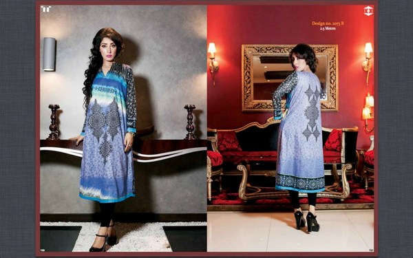 Ittehad Textiles Printed Lawn Shirts 2014 For Women 4