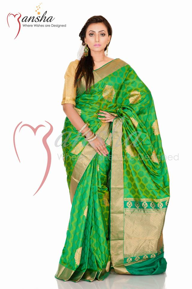 Kanchipuram Katan Colorful Summer Sarees Collection 2014 by Mansha 2
